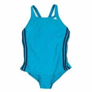 Adidas Shock Mint Stripe One-Piece Swimsuit